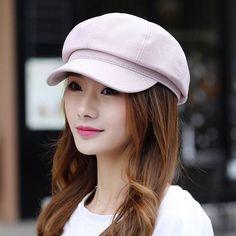 Spring plain newsboy cap for women UV berets sun hats summer wear 7166f278be89