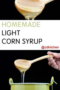 This DIY corn syrup substitute is made without corn starch. It's basically a sugar syrup that you can use in recipes in place of corn syrup. How To Make Corn, How To Make Light, Baby Snacks, Cocoa Cookies, Sugar Cookies, Food Storage, Vanilla Recipes, Syrup Recipes, Sugar Glass