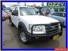 2008 Ford Ranger PJ 07 Upgrade XL (4x4) White Manual 5sp Manual #ford #ranger #forsale #australia