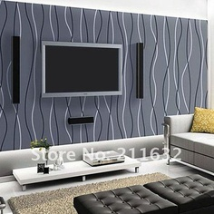 Living Room With Wall Tiles   Buscar Con Google. Modern Striped Vinyl Part 67