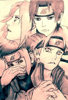 Team 7. people who follow this board: i am in a strong naruto phase.