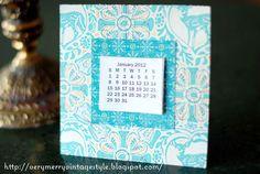 Very Merry Vintage Syle: Free 2012 Mini Printable Calendar Craft!