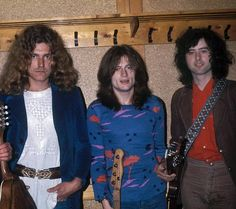 Robert Plant, John Paul Jones and Jimmy Page
