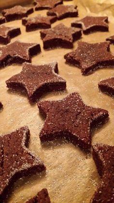 Brunsli, bredele chocolat cannelle sans farine, ni beurre, ni jaune d'oeuf !