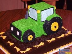 20 Cute Birthday Cake Ideas For Boys Asher would love this tractor cake!!!