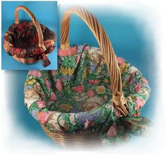 Wicker Basket with 2 Removable Fabric Liners ~ Easter / Spring and Fall  Themes #Unbranded