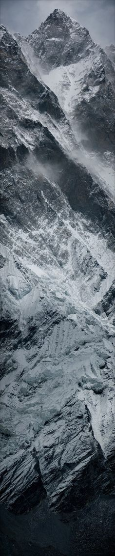 (via A Walk in the Mountains / Vertical panorama of Lhotse Wall on the Nepal side)