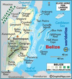 Large Belize Map - Map of Belize, Belize Map - World Atlas