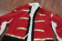 No Sew Captain Hook Costume using a Tee- i think i could make this work for patrick using a top from goodwill....