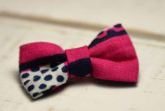 """Barrette bébé clic-clac petit nœud / Wax """"Pink wave"""" : Accessoires coiffure par noeud-vous-deplaise"""