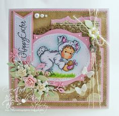 A Sprinkling of Glitter: The Easter Bunny - Simon Says Stamp DT Card