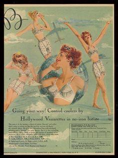 1959 Hollywood Vassarette lingerie ad