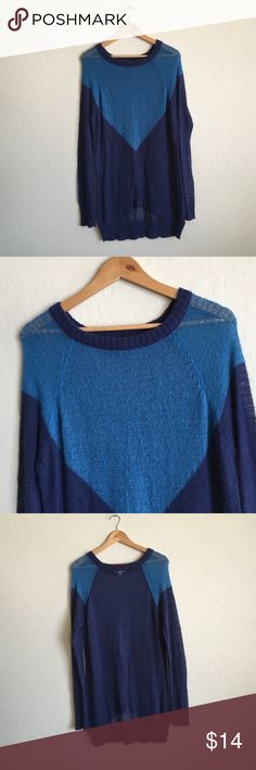Long blue sweater Really cute, fits long, size XS but fits bigger Cotton On Sweaters