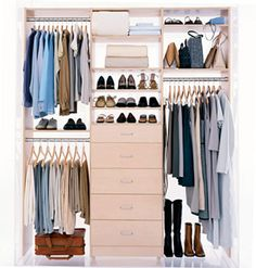 Love the idea of closet organizers to help us maximize storage space and potentially prevent the need for dressers or multiple dressers in a room.