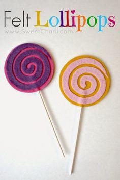 Brassy Apple: DIY Felt Lollipops - for kids!