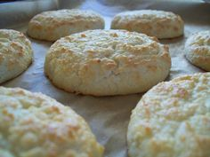 Perfect Paleo Biscuits 6 egg whites 3/4 cup blanched almond flour 1/4 cup coconut flour 1 teaspoon baking powder 1/4 teaspoon salt 1 1/2 tablespoons coconut oil, chilled