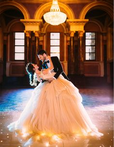 These Are The Most Magical Disney Inspired Wedding & Engagement Photos Ever: This is a ballgown fit for a princess and perfect for anyone who loves Disney!