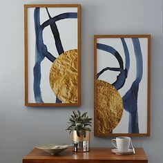 Office - the right one (Print 2) - The Arts Capsule Ink Diptych - Half Moon #westelm