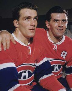 Maurice et Henri Richard - Dans les années 1950, Maurice et Henri Richard vont devenir la plus importante paire d'une même famille dans l'histoire des Canadiens. Ensemble, ils totalisent 19 coupes Stanley, toutes avec les Canadiens, et cumulent 2547 matchs dans l'uniforme bleu-blanc-rouge, séries éliminatoires incluses. Ceux-ci ont été des éléments marquants de l'histoire des Canadiens, leurs chandails respectifs flottant tous les deux au plafond du Centre Bell.