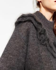 모헤어 프릴 스웨터-이번 주 신상품-WOMAN | ZARA 대한민국