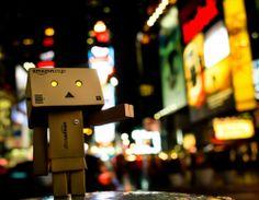 Amazon Box Robot Night Life