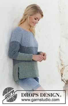 Sweet nothing jumper / DROPS - free knitting patterns by DROPS design Informations About Sweet Nothing Jumper / DROPS - Kostenlose Strickanleitungen von DROPS Design Pin You can easily u Beginner Knitting Patterns, Easy Knitting, Knitting For Beginners, Knitting Designs, Jumper Patterns, Sweater Knitting Patterns, Dress Patterns, Drops Design, Laine Drops