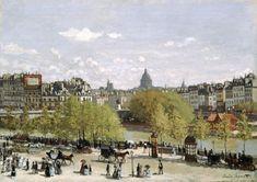 Titre de l'image : Claude Monet - Quai du Louvre, Paris