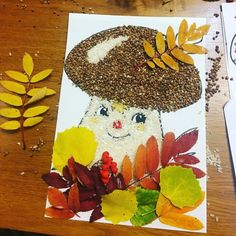 fall - Fall Crafts For Kids Autumn Crafts, Fall Crafts For Kids, Autumn Art, Nature Crafts, Diy For Kids, Diy And Crafts, Kids Crafts, Arts And Crafts, Paper Crafts