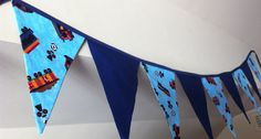bunting with trains