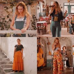 donna (lily james) in mamma mia here we go again. Fashion 90s, 70s Inspired Fashion, Boho Fashion, Fashion Outfits, Fashion Ideas, 70s Outfits, Vintage Outfits, Boho Outfits, Cute Hippie Outfits