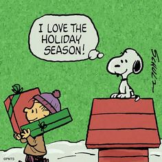 Linus and Snoopy I just love the holiday season.