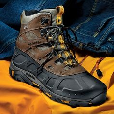 Merrell's Ice Jam Boots Keep Feet Warm and Dry Without Feeling Like a Ton of Bricks!
