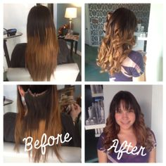 Valeria walked into Parlour Salon for the first time last week, with a mess of an ombré with high hopes that someone could salvage her hair. Ashley, our hairstylist at our salon in Redondo beach, got the chance to fix her hair. We all were shocked with the ombré job she walked in with, but Ashley fixed it and made it look perfect! Valeria was so happy- she cried! We love making women feel beautiful, it's our specialty.