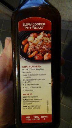 Slow Cooker Pot Roast by A-1 Steak Sauce