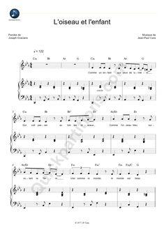 partition piano l'oiseau et l'enfant des kid united