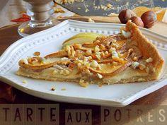 Recette tarte aux poires noisettes et au bleu