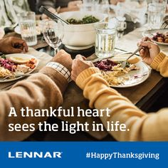 Happy Thanksgiving from Lennar Atlanta. May you have a wonderful time this Thanksgiving, with friends and family.
