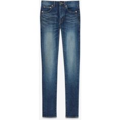 Saint Laurent Mid Waisted Skinny Jean (10.155.910 IDR) ❤ liked on Polyvore featuring jeans, 5 pocket skinny jeans, zip jeans, cut skinny jeans, skinny jeans and 5 pocket jeans