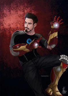 Desenho Tony Stark, homem de ferro