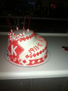 Birthday cake for a distinguished member of Kappa Alpha Psi