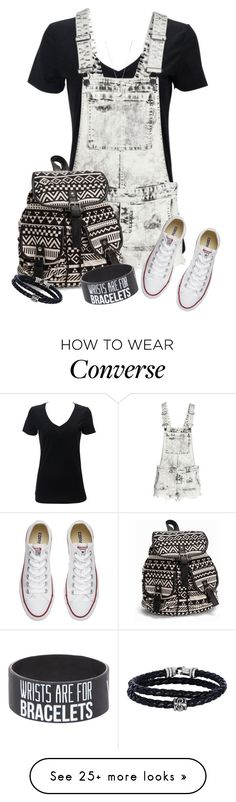 """""""Back to School #5"""" by maxine128 on Polyvore featuring H&M, Converse, NLY Accessories, Tiffany & Co. and Phillip Gavriel"""
