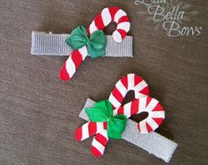 Santa Claus Ribbon Sculpture Hair Bow St. Nick by EllaBellaBowsWI