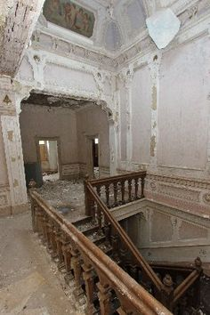 Interior- Horncliffe Mansion, Rossendale, Lancashire, UK.  It was originally a house, then an elderly care home, and finally a wedding venue. It was built in 1869.