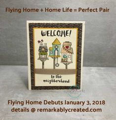 Sneak Peak 2018 Stampin' UP! Flying Home Stamp Set