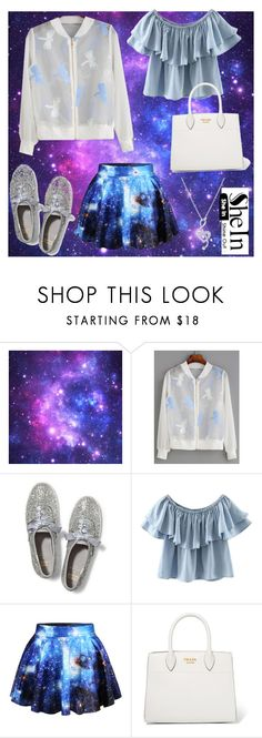 """space dragon"" by fashionshelter ❤ liked on Polyvore featuring WithChic, Keds, Prada and BERRICLE"