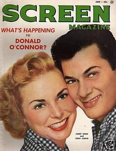 Jan.1954, Janet Leigh and Tony Curtis.