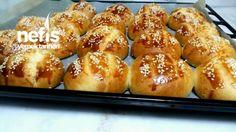 Bayatlamayan Kabartmatozlu Poğaça(3 2 1) Pretzel Bites, Bread Recipes, Cooking Recipes, Baked Potato, Tea Time Snacks, Turkish Tea, Brunch, Doughnuts, Fethiye