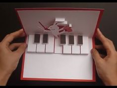 How To Make Rabbit Playing Piano - Happy Easter Pop Up Card Tutorial - YouTube
