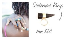 """""""Sale on Statement Rings"""" by kateboston on Polyvore"""