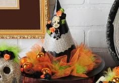 DIY Tutorial: DIY Witch Costumes / DIY Witches Hat Makeover... - Bead&Cord
